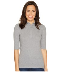 Lacoste Half Sleeve Slim Fit Stretch Pique Polo Shirt Chine Platinum Women's Short Sleeve Knit Gray