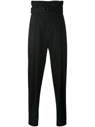 Aganovich High Waisted Trousers Men Cotton 46 Black