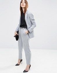 Asos Premium Tailored Trousers In Two Tone Yarn Blue