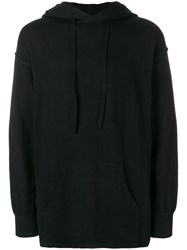 The Viridi Anne Drawstring Hoodie Cotton Nylon Polyurethane Black