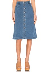 Viktoria Woods Newton Midi Skirt Vintage Denim
