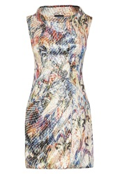 James Lakeland Print Cowl Neck Dress Multi Coloured