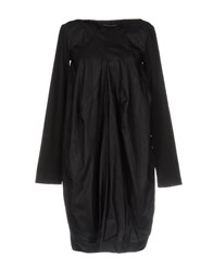 Malloni Short Dresses Black