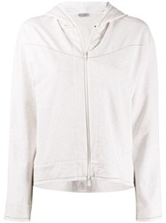 Brunello Cucinelli Brass Embellished Zip Up Hoodie 60