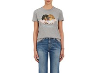 Fiorucci Women's Angel Graphic Cotton T Shirt Grey