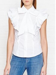 Karen Millen Fashion Jersey Shirt White