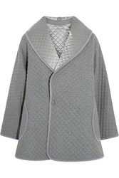Temperley London Diega Reversible Quilted Silk Wool And Cashmere Blend Coat