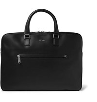 Paul Smith Contrast Tipped Textured Leather Briefcase Black