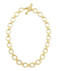 Elizabeth Locke Rimini Gold 19K Link Necklace 17 L