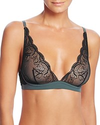 Addiction Midnight Triangle Bralette Mt 40 Black Green