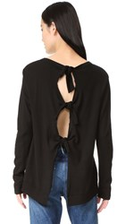 Wilt Slouchy Tie Back Long Sleeve Tee Basic Black
