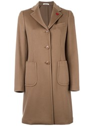 Lardini Single Breasted Coat Brown