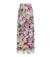 Burberry Floral Printed Silk Maxi Skirt Multicoloured