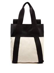 Proenza Schouler Logo Convertible Leather And Canvas Backpack White Black