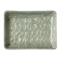 Villari Alligator Soap Dish Pearl Grey