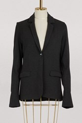 Majestic Filatures 1 Button Piped Pocket Blazer 088. Anthracite Chine