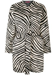 Paul Smith Ps By Zebra Printed Coat Black