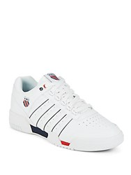 K Swiss Gstaad Leather Sneakers White Navy