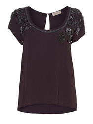 Label Lab Compact Sequin Embellished Top Purple