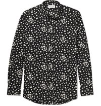 Saint Laurent Star Print Voile Shirt Black