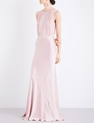 Ghost Claudia Satin Dress Boudoir Pink