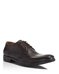 John Varvatos Dylan Wingtip Oxfords Distressed Brown