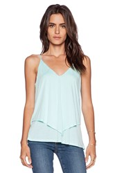 Lanston Double Layer Cami Tank Mint
