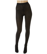 Wolford Merino Rib Tights Anthracite Mele Hose Black
