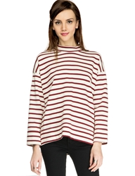Pixie Market Mock Red Stripe Top