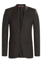 Hugo Wool Blazer Brown