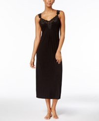 Thalia Sodi Knit Lace Trimmed Nightgown Created For Macy's Deep Black