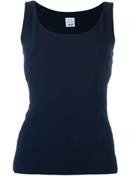 Moschino Vintage Classic Tank Top Blue