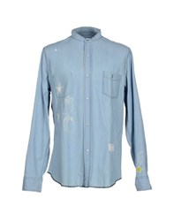 The Editor Denim Denim Shirts Men Blue