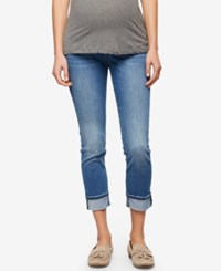 A Pea In The Pod Maternity Cropped Jeans Med Wash