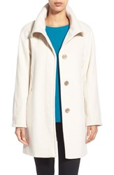 Women's Ellen Tracy Convertible Collar Kimono Sleeve Coat Ivory