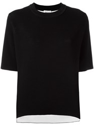 Dkny Reversible Knit Top Black
