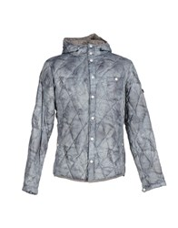 Swiss Chriss Coats And Jackets Down Jackets Men Grey