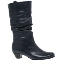 Gabor Rachel Wide Slouch Knee High Boots River Navy