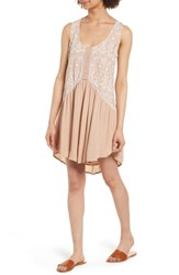 O'neill Akemi Embroidered Dress Warm Taupe