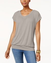 Jm Collection Blouson T Shirt Created For Macy's Suede