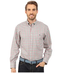 Vineyard Vines Holiday Gingham Classic Tucker Shirt Lighthouse Red Men's Long Sleeve Button Up