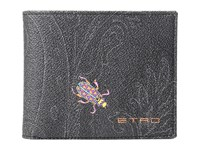 Etro Paisley Billfold Black Insect
