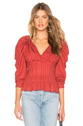 C Meo Collective Vices Long Sleeve Top Red