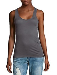 Skin Organic Solid Pima Cotton Tank Top Dusty Azelea