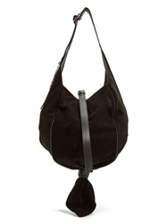 J.W.Anderson Knot Suede Hobo Bag Black