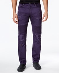 Lrg Men's Payola Tapered Fit Pintucked Jeans Char Purple