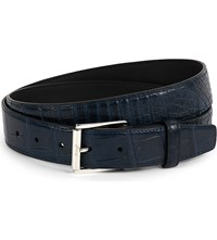 Brioni Crocodile Leather Belt Midnight Blue