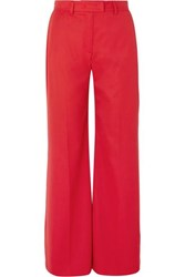 House Of Holland Crepe Wide Leg Pants Red