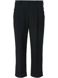 Michael Kors Crepe Cropped Trousers Black