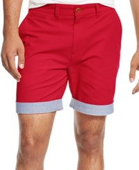 Tommy Hilfiger Men's Big And Tall Custom Fit Chino Shorts Barberry